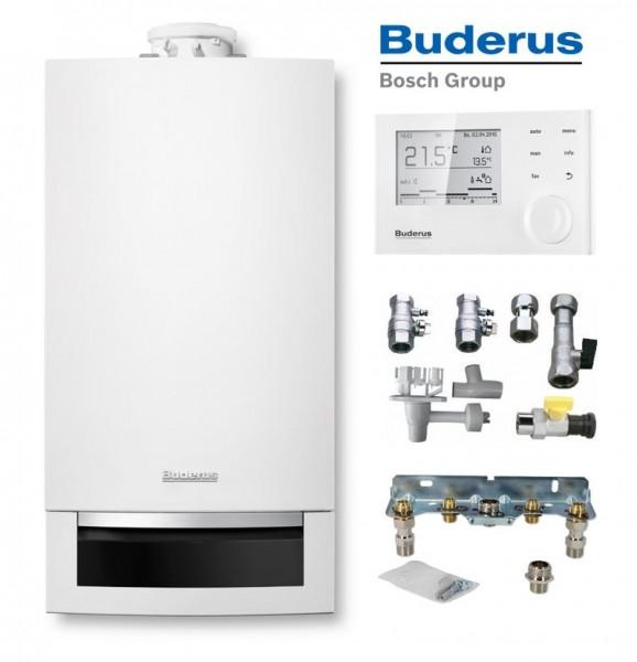 Buderus Logaplus-Paket W25 GB172-24K Brennwert-Kombitherme 24 kW EG-E mit RC310