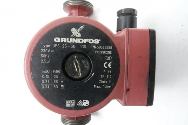 Grundfos UPS 25-50 180mm Umwälz-Pumpe Heizungspumpe 59525599