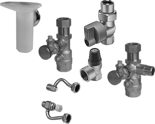 Wolf Anschluss-Set Gas-Kombithermen Aufputz-Installation inkl. Gashahn / 2072345