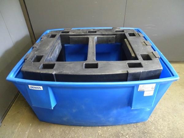 Denios IBC-Station-S Auffangwanne aus Polyethylen (PE) für 1 IBC 1000 Liter