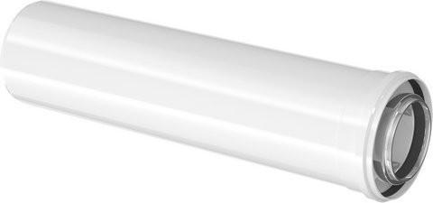 Junkers-Bosch Gas-Brennwert Abgasrohr konzentrisch Ø 80/125 mm Länge 1,0m