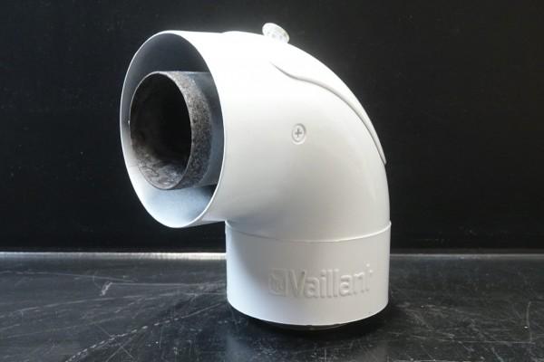 Vaillant Bogen 87° Grad 60/100mm Alu mit Reinigungsöffnung turboTEC 303836