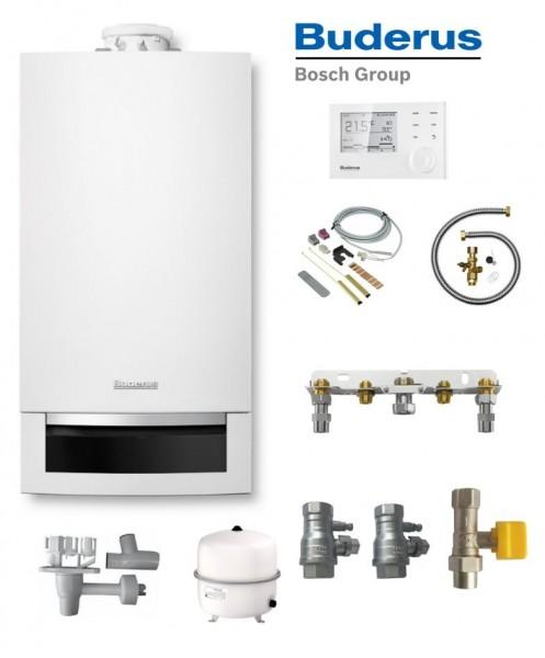 Buderus Logaplus-Paket W22S GB172-14 Gas-Brennwert-Therme 14 kW EG-E mit RC310