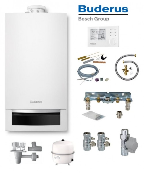 Buderus Logaplus-Paket W22S GB172-20 Gas-Brennwert-Therme 20 kW EG-E mit RC310