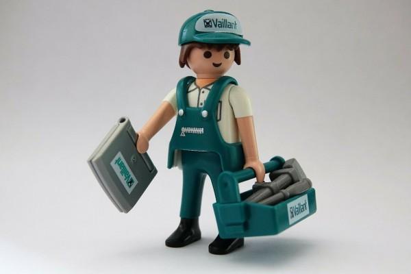 Playmobil Sonder-Figur Vaillant Monteur Installateure selten Heizungs-Techniker